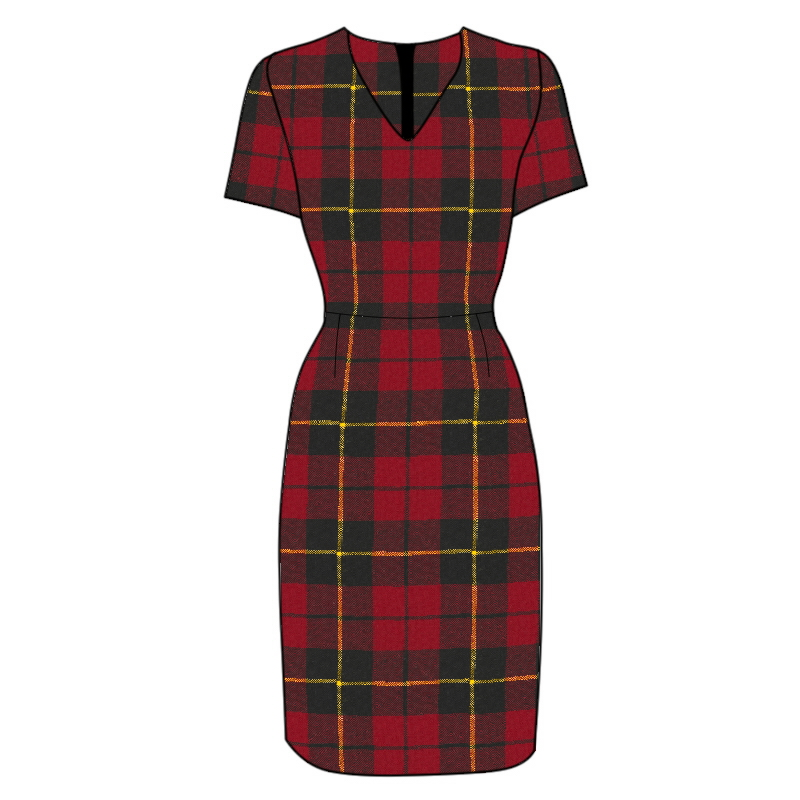 Fitted Tartan Dress