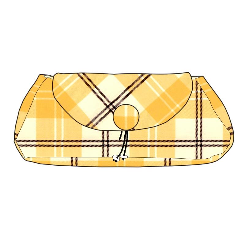 The Muckle Peerie Poak Tartan Clutch Bag