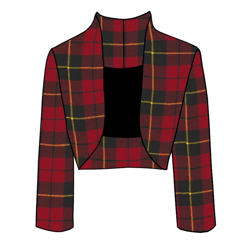 Tartan Bolero Jacket