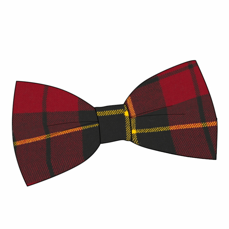 Wool Tartan Bow Tie and Cummerbund Set