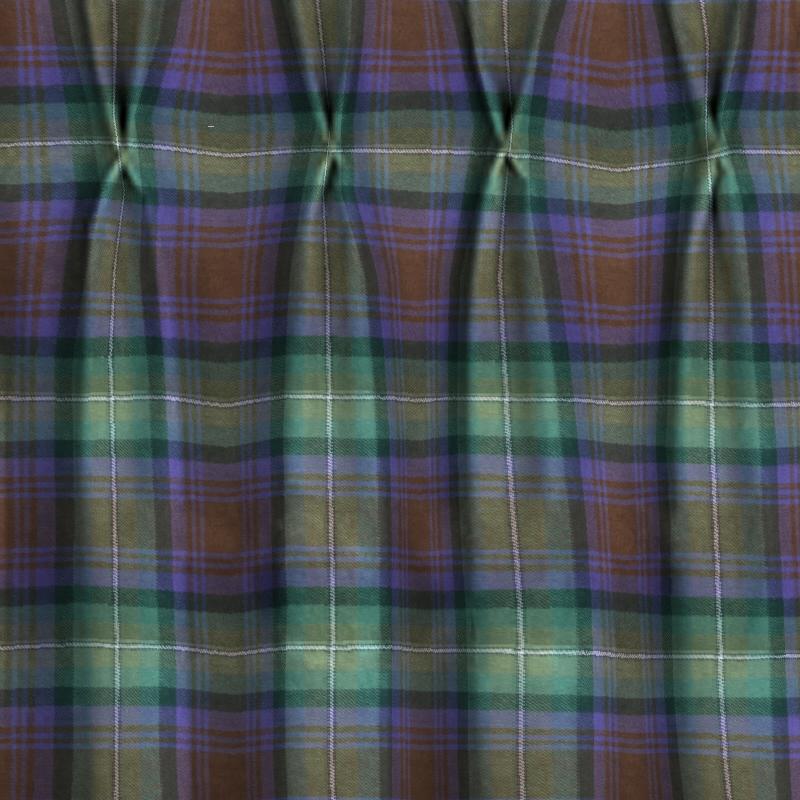 Pinch Pleat Tartan Curtains