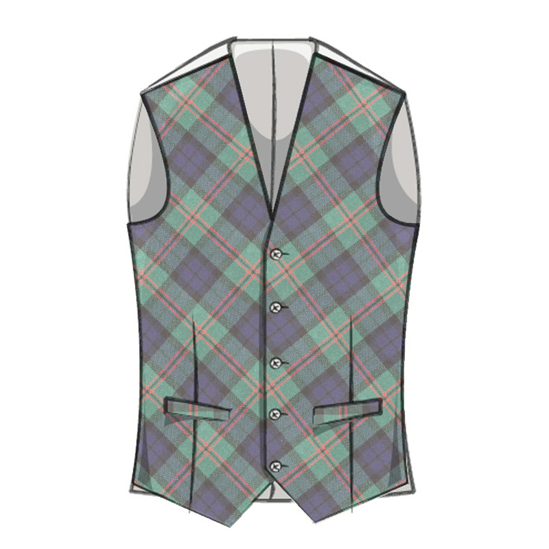 Mens Clan Tie Made in Scotland Dundas Modern Tartan