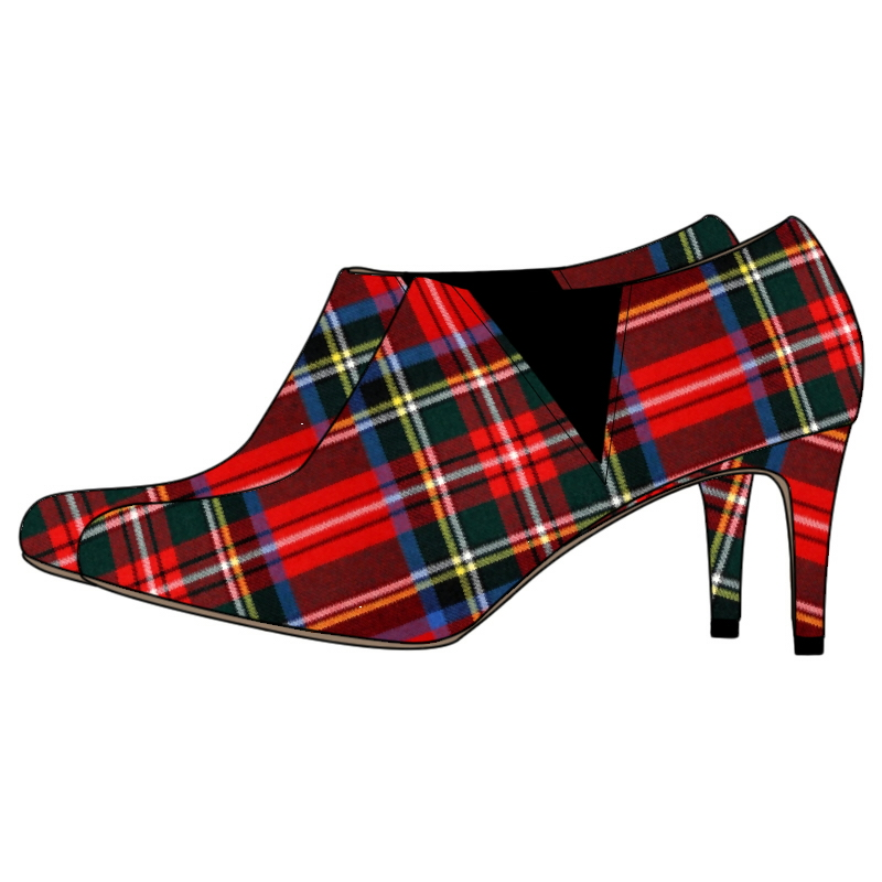 Women's Tartan Boots - Narrow Heel
