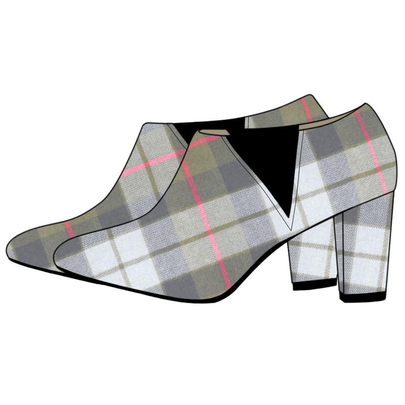 Women's Tartan Boots - Block Heel