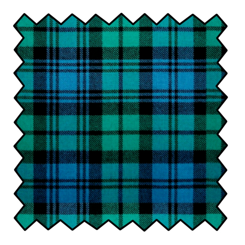 10oz Lightweight Wool Plaid Fabric Made To Order