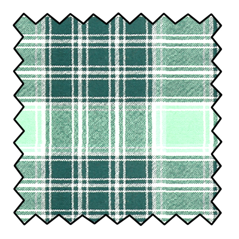 8oz Lightweight Wool Tartan Fabric Made To Order