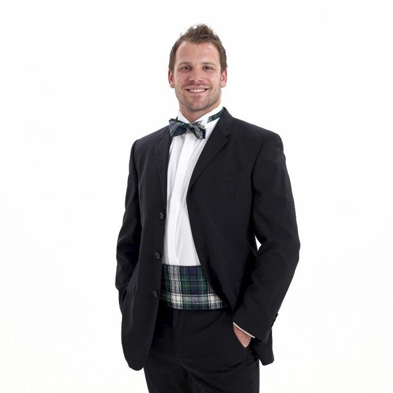 Wool Tartan Bow Tie and Cummerbund Set