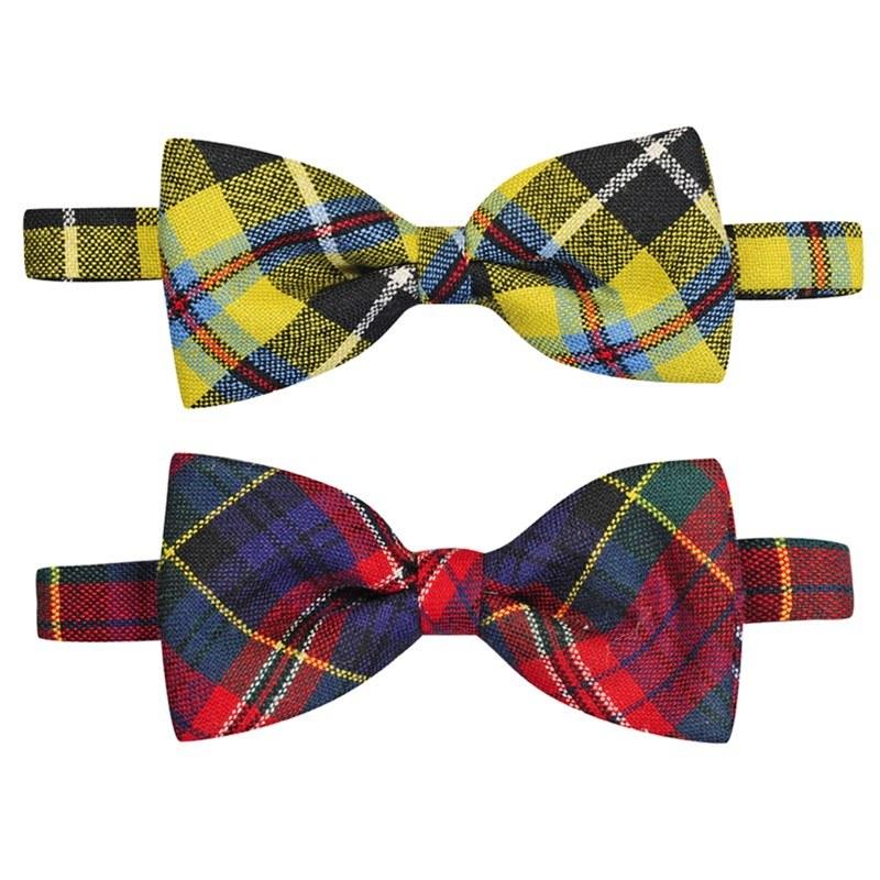 Wool tartan bow ties