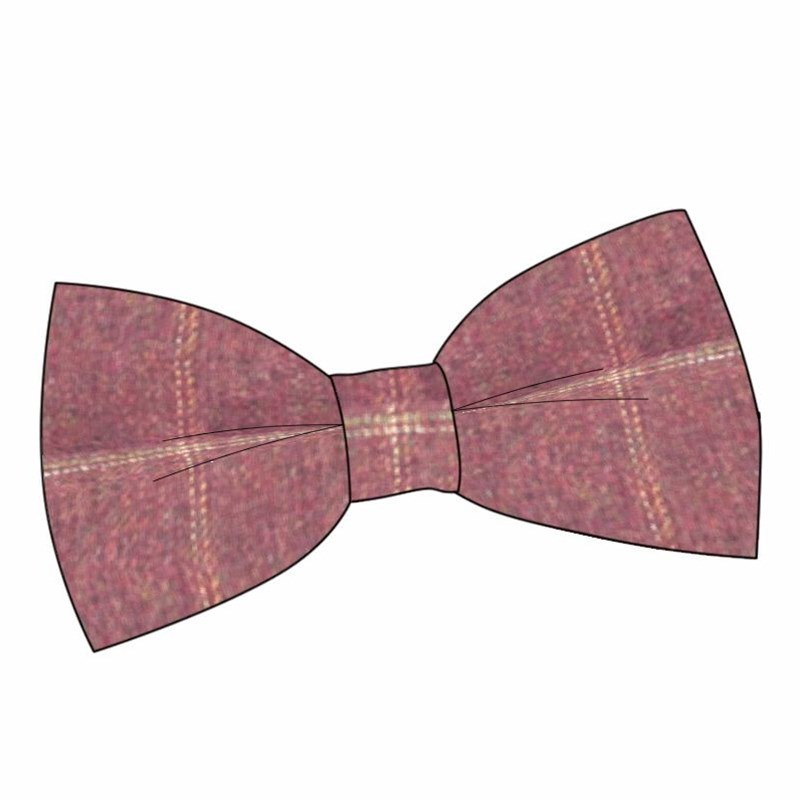 Plaid Wool Bow Tie in Cairngorm Red Kite (CGE142)