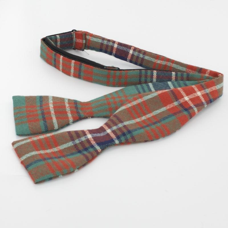 Wool Tartan Self Tie Bow Tie