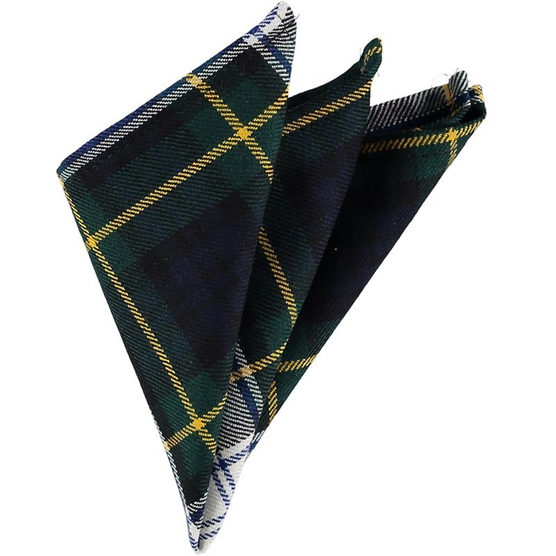 Plaid Wool Pocket Square in Gordon Dress Modern