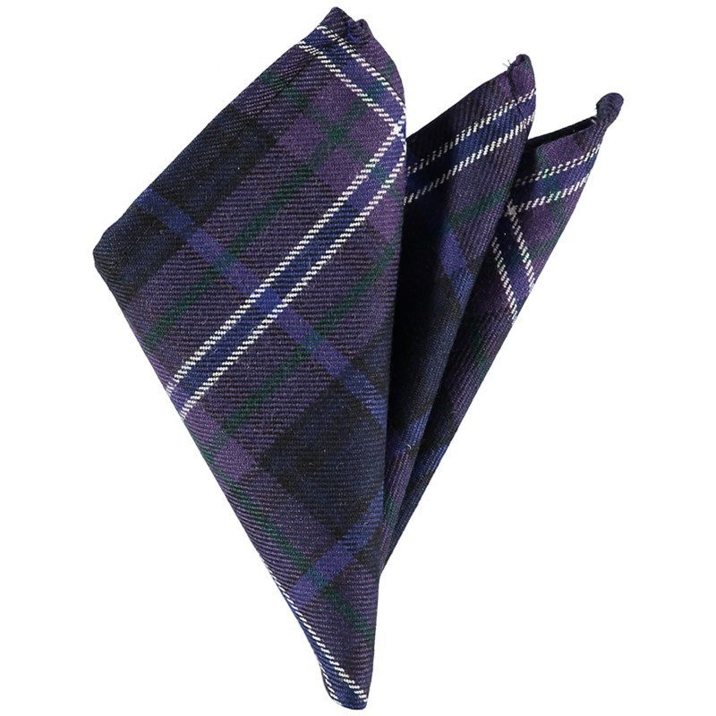 Wool Tartan Pocket Square in Scotland Forever