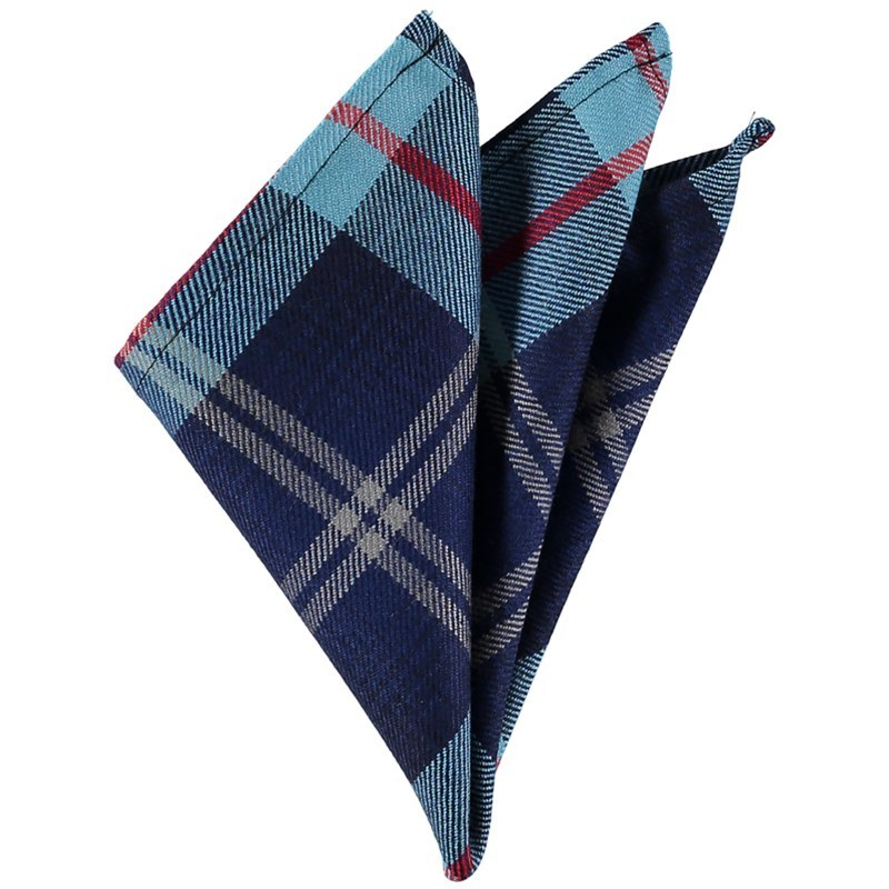 Plaid Wool Pocket Square in Help For Hereos