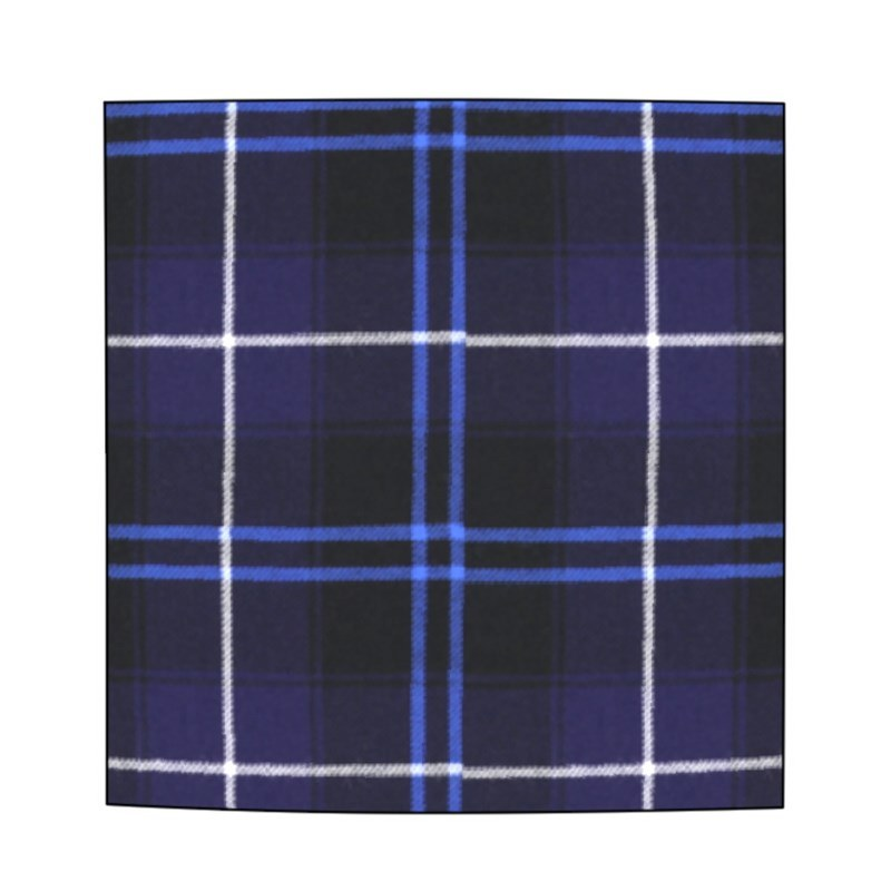 Wool Tartan Pocket Square in Patriot Modern