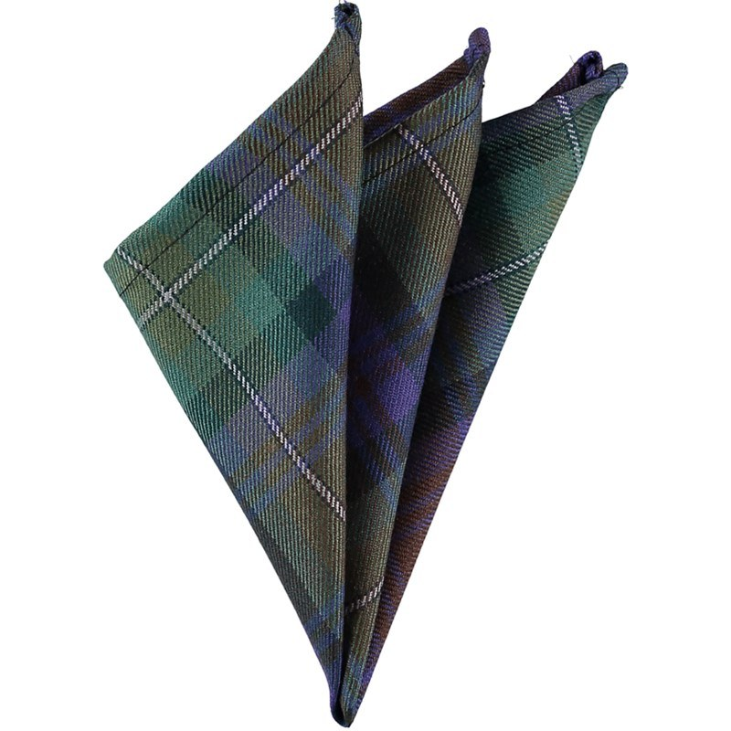 Wool Tartan Pocket Square in Isle Of Skye