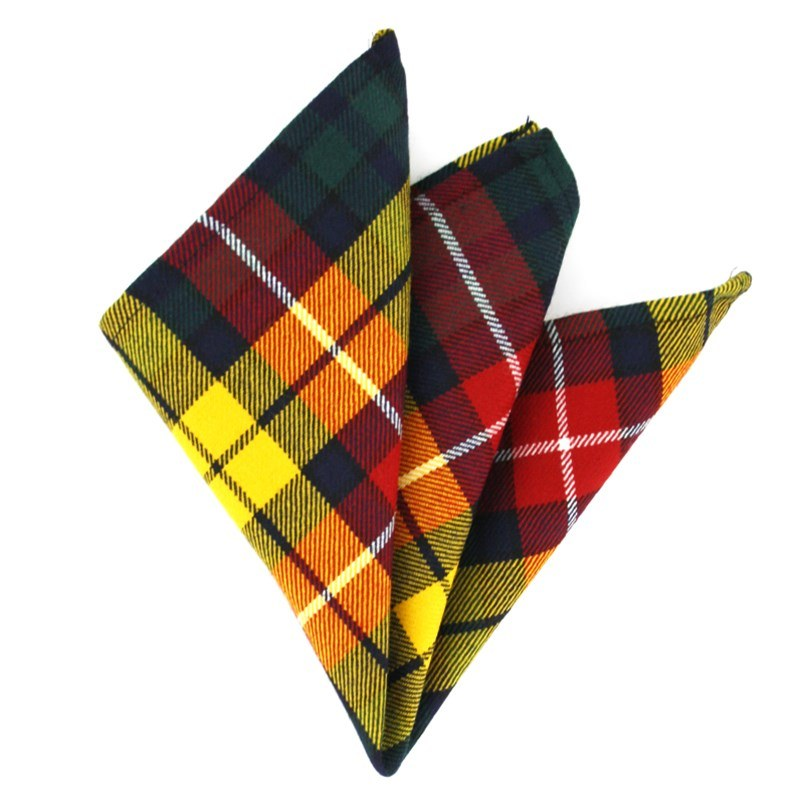 Plaid Wool Pocket Square in Buchanan Modern