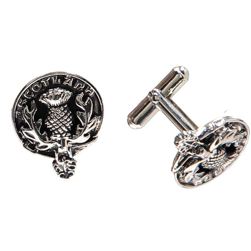 Thistle Clan Crest Cufflinks