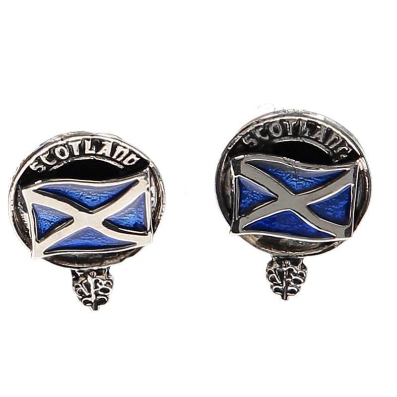 Clan Crest Manschettenknöpfe in Saltire