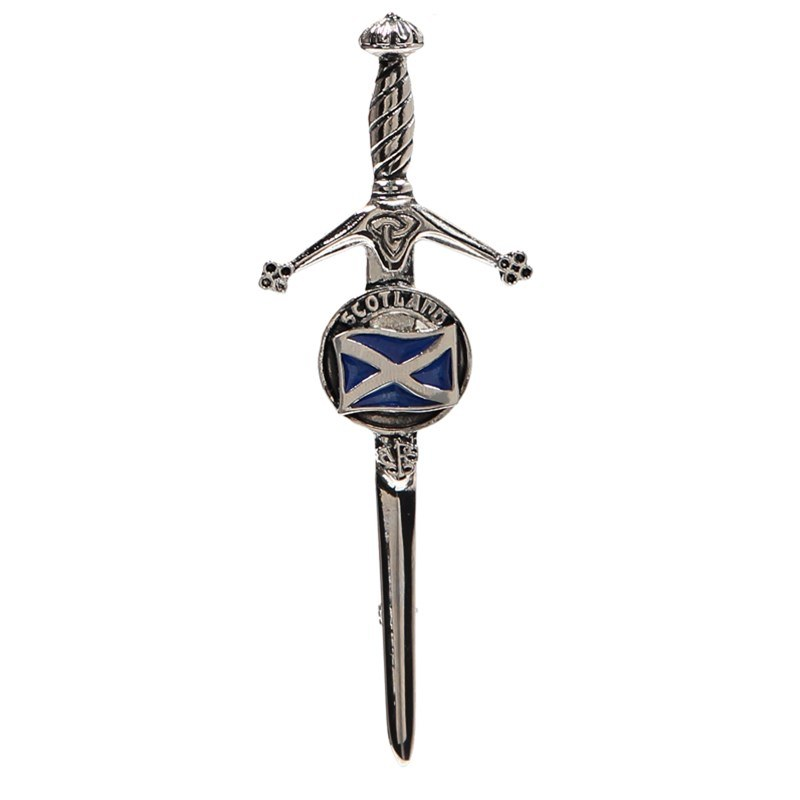 Clan Crest Kilt Pin in Saltire Clan Crest