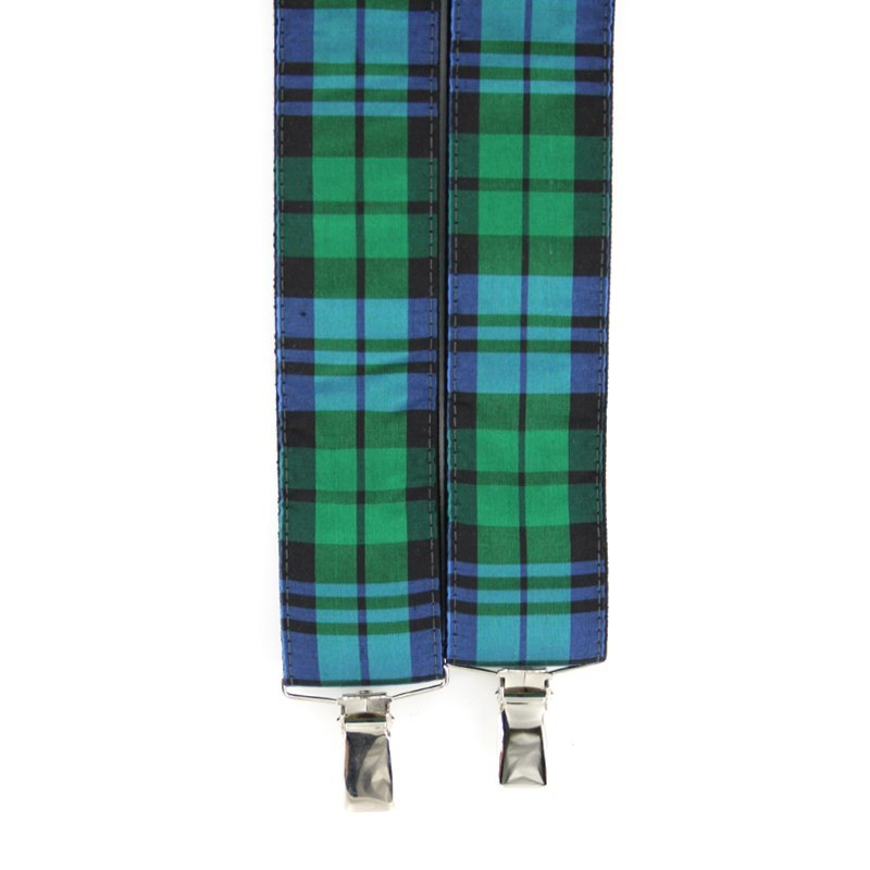 Silk Tartan Braces in Campbell Clan Ancient Silk 31013-102