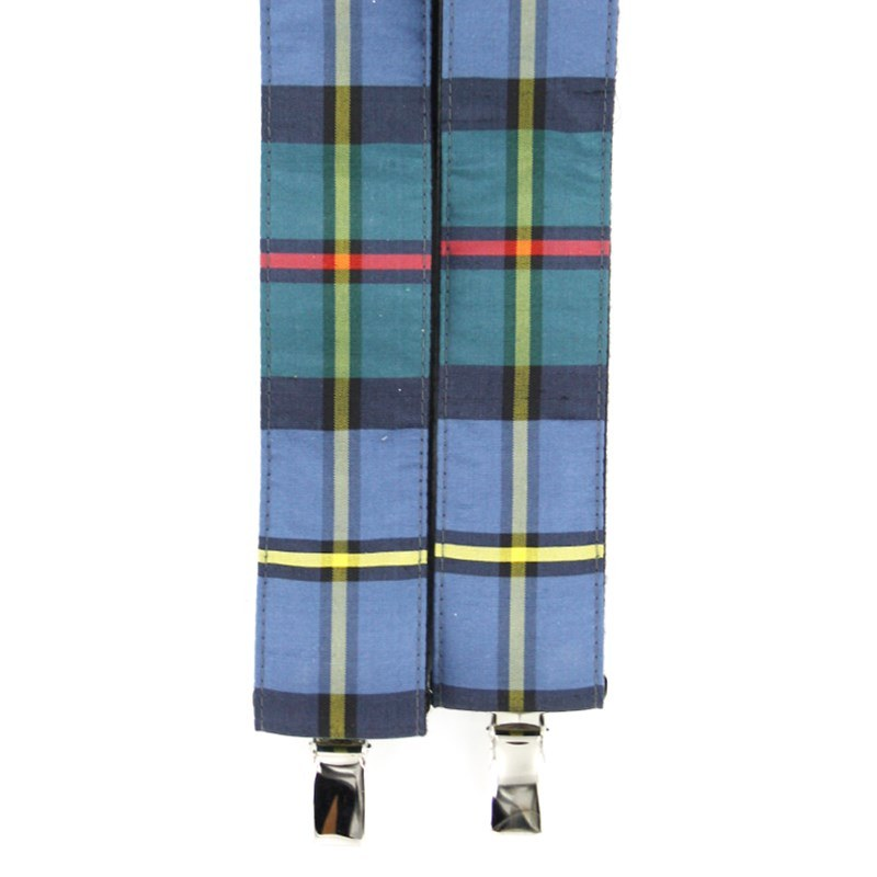 Plaid Silk Suspenders in MacLeod Of Harris Ancient Silk 31013-149