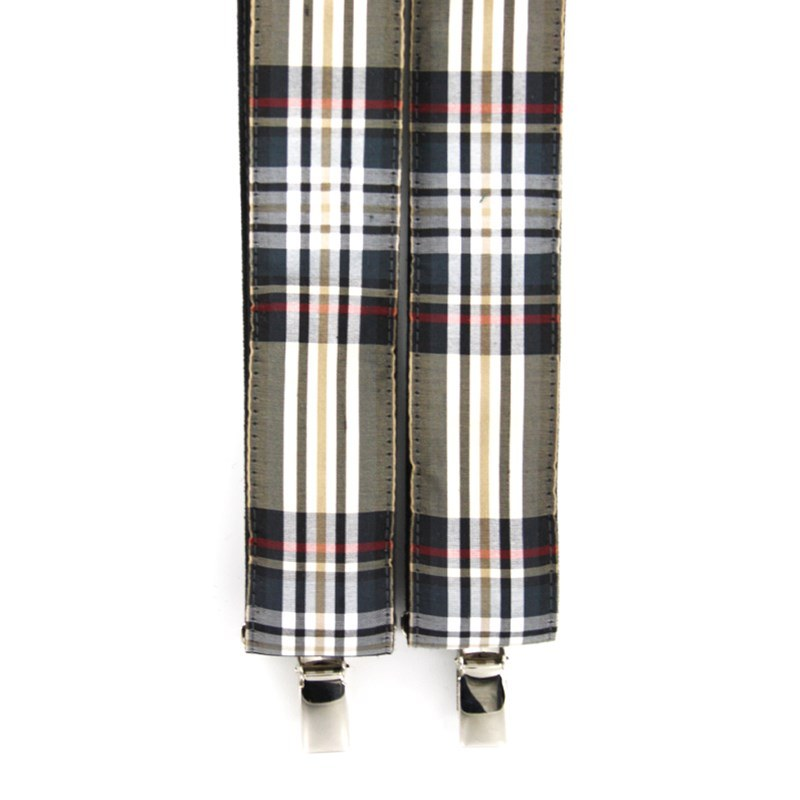 Silk Tartan Braces in Stewart Camel Silk 31013-35