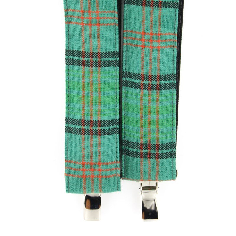 Plaid Wool Suspenders in Ross Hunting Ancient