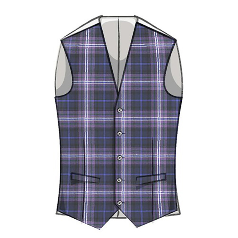 Mens Plaid Wool Vest in Scotland Forever