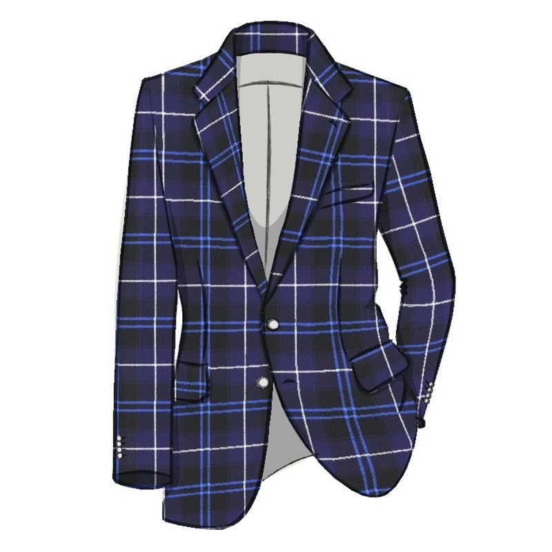 Men's Tartan Suit Jacket in Patriot Modern