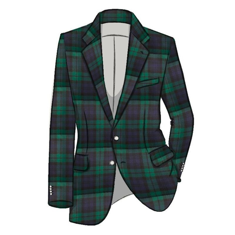 Men's Tartan Suit Jacket