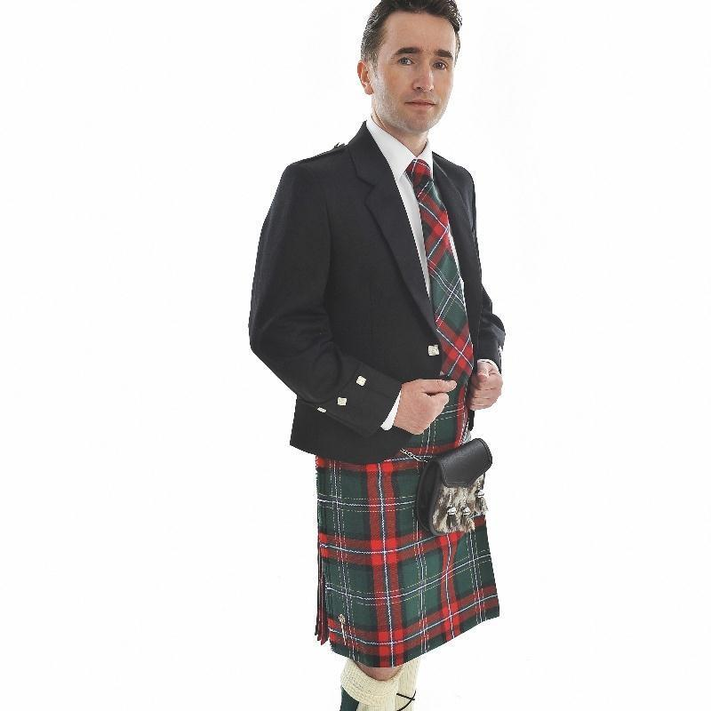 Costume Traditionel Ecossais - Veste Argyll, Kilt de 4 Yards