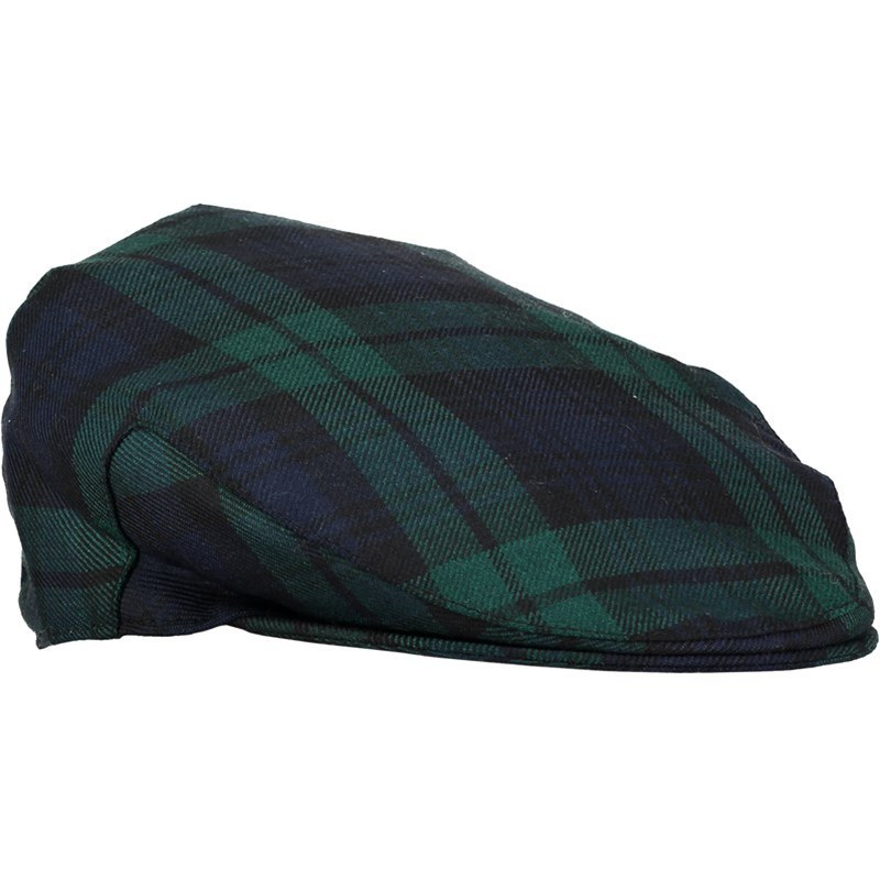 Tartan Flat Cap in Black Watch Modern
