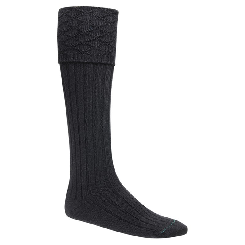 Boy's Kilt Socks in Black