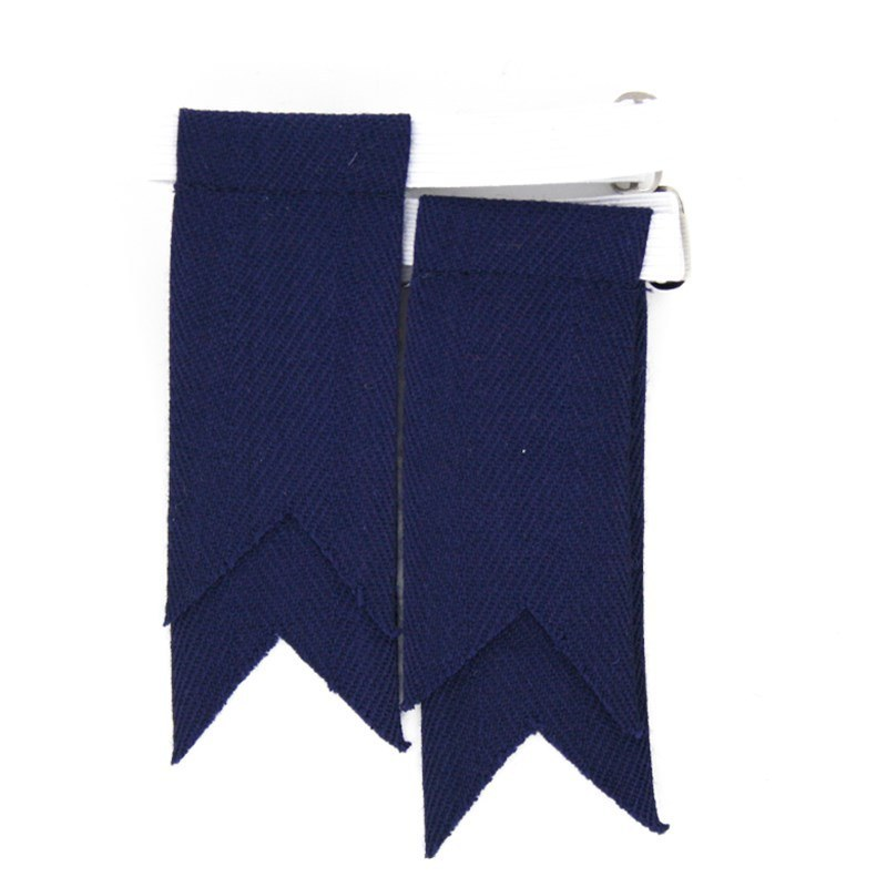 Solid Color Garter Kilt Flashes in Navy Flashes