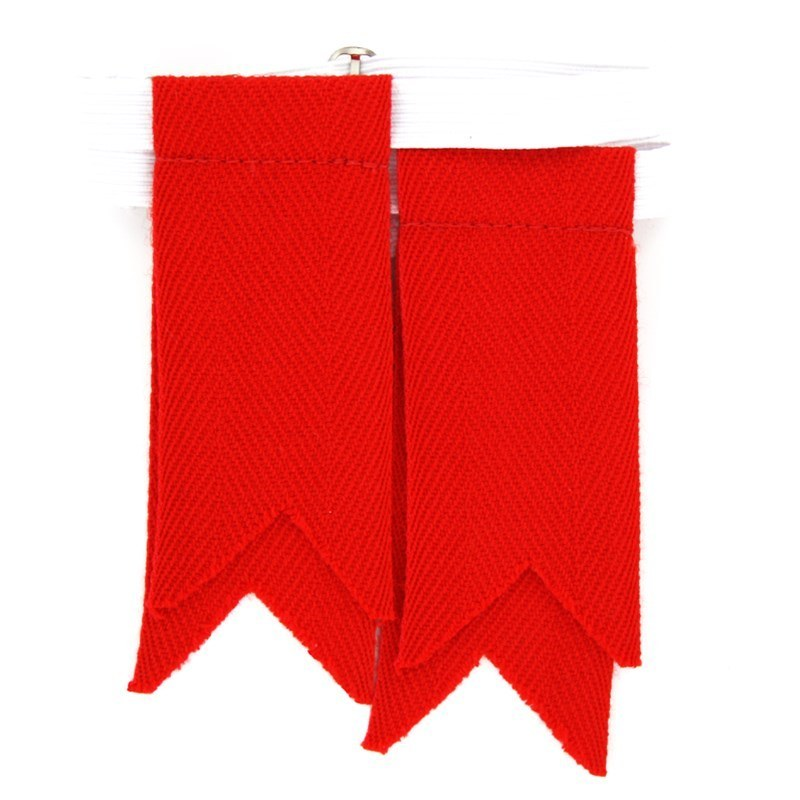 Solid Colour Kilt Flashes in Scarlet Flashes