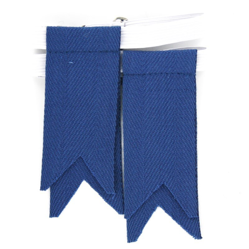 Solid Color Garter Kilt Flashes in Blue Ancient Flashes
