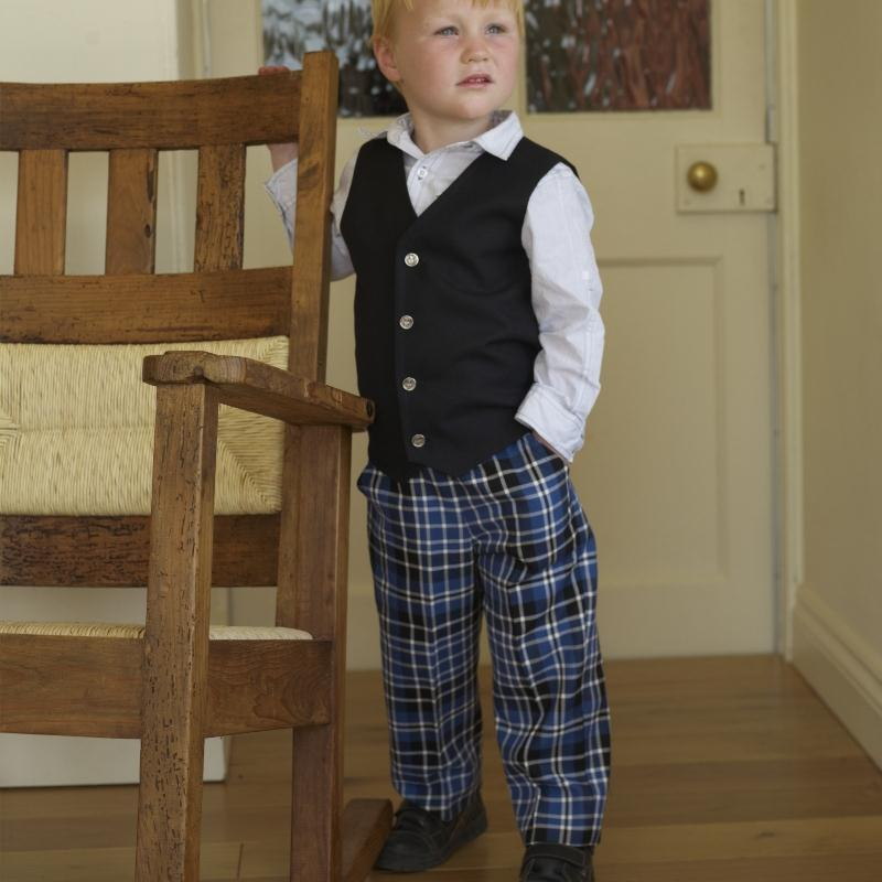 Boy's Tartan Trousers Clark Ancient