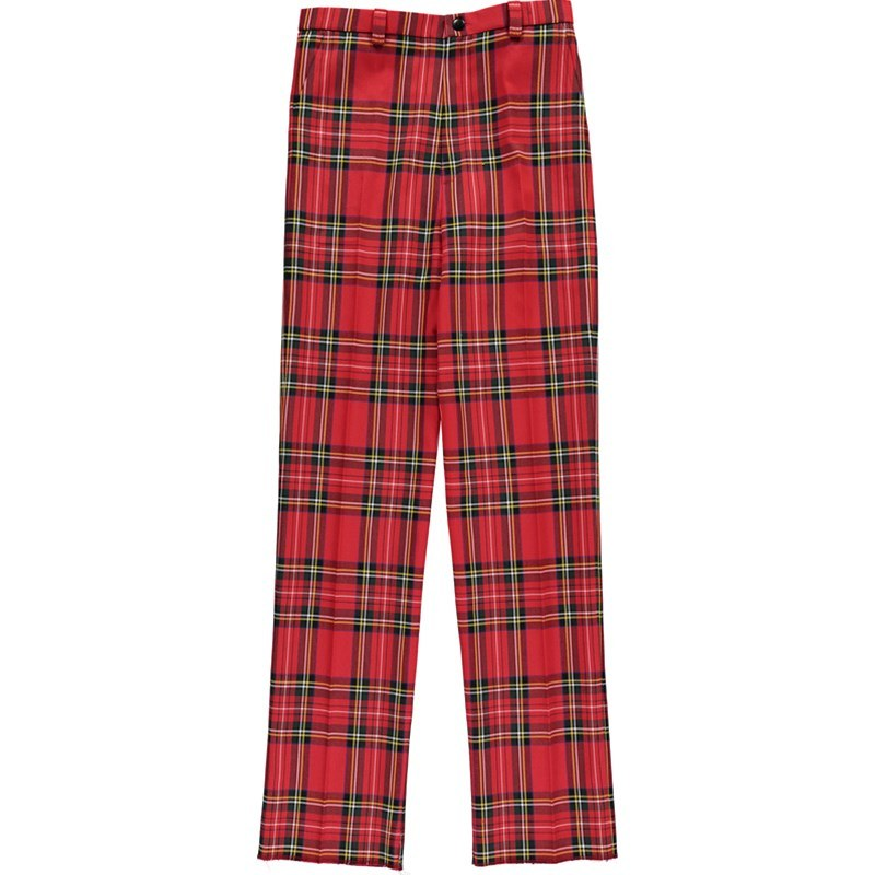 Boy's Machine Washable Tartan Trousers in Stewart Royal
