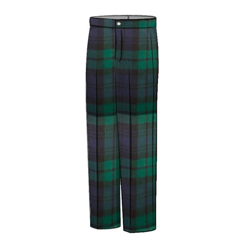 Boy's Wool Tartan Trousers in Black Watch Modern