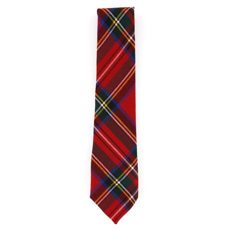 Tartan Krawatte für Jungen aus Wolle in Stewart Royal