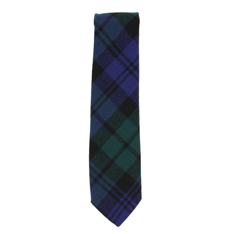 Tartan Krawatte für Jungen aus Wolle in Black Watch Modern