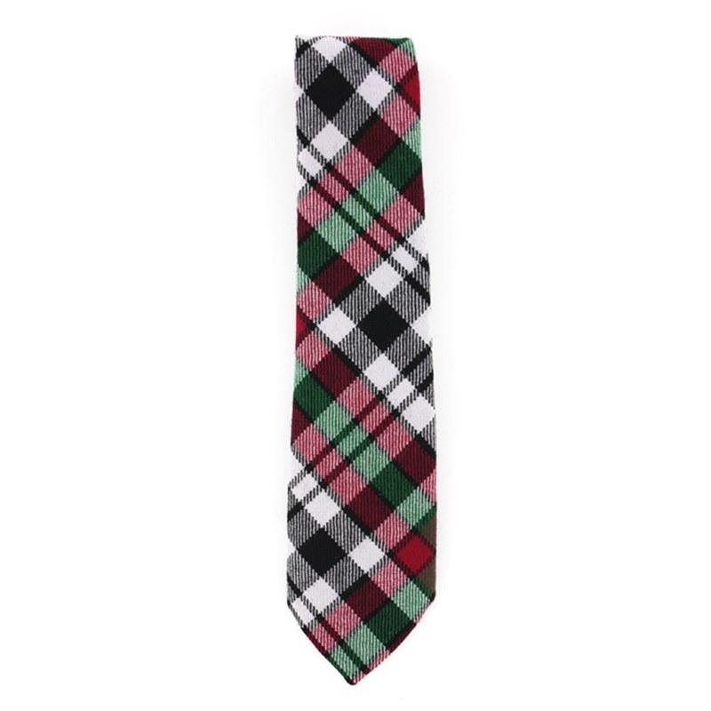 Tartan Krawatte für Jungen aus Wolle in Borthwick Dress Modern