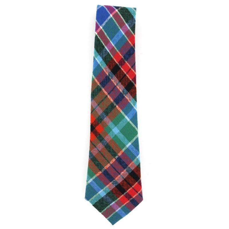 Tartan Krawatte für Jungen aus Wolle in Gordon Red Ancient