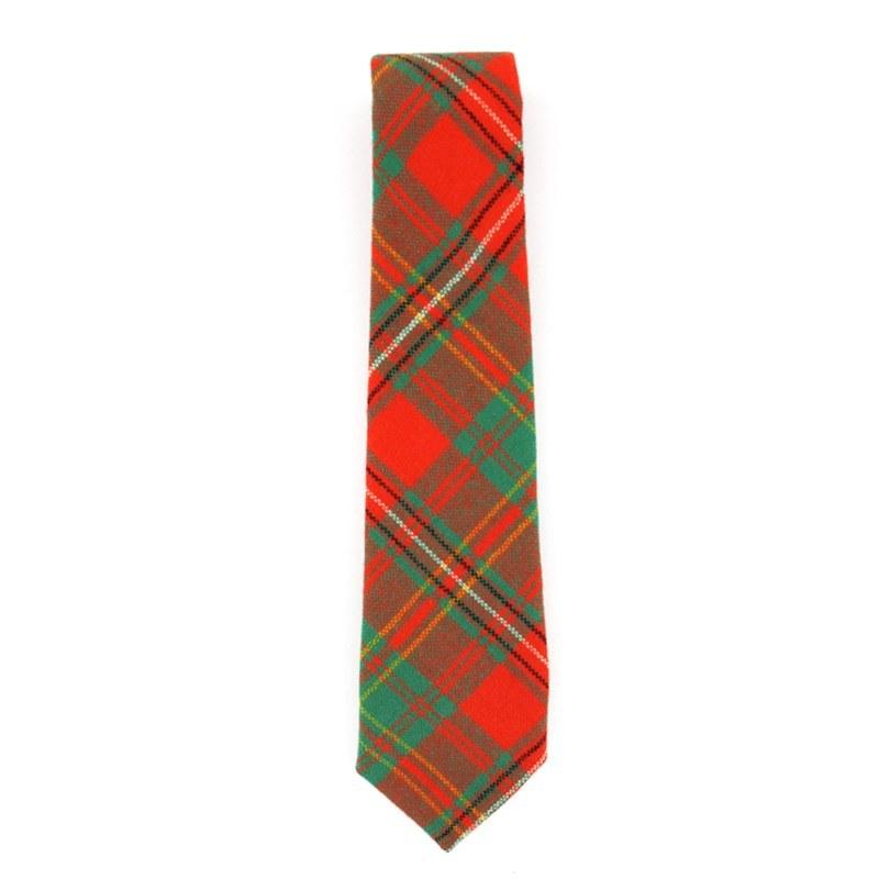 Tartan Krawatte für Jungen aus Wolle in Hay Ancient