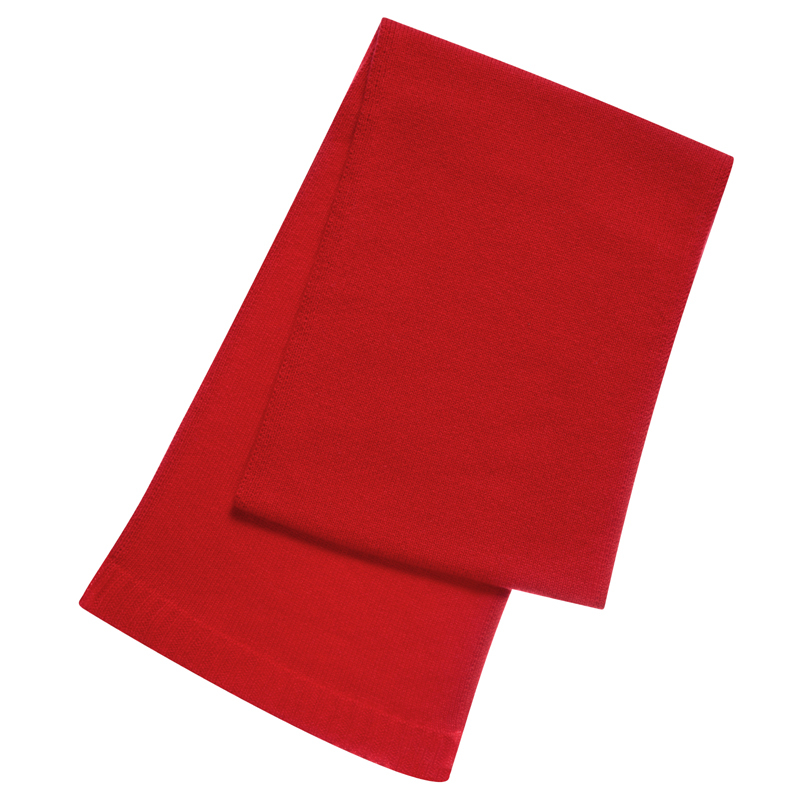 Plain Knit Cashmere Scarf in Cardinal Red