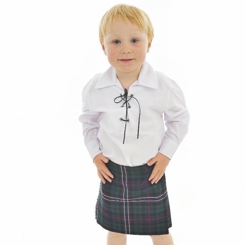 La falda Escocesa de Ninos, maquina lavable
