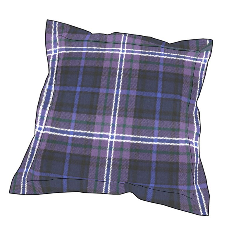 Essential Plaid Pillow Cover in Scotland Forever