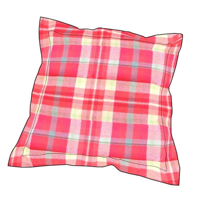 Essential Plaid Pillow Cover in Highland Rose