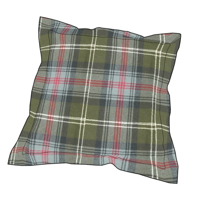 Coussin à Carreaux Ecossais in Sutherland Old Weathered