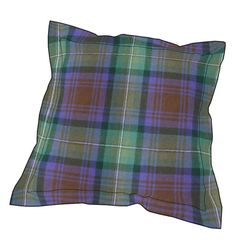 Essential Plaid Pillow Cover in Isle of Skye
